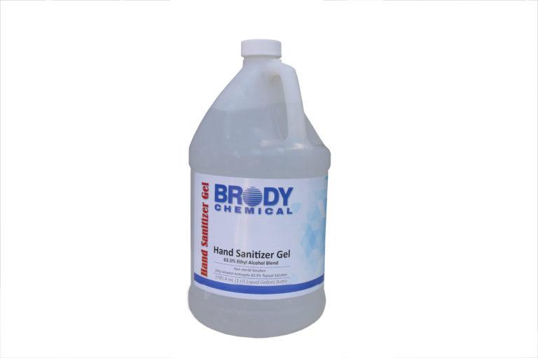 Gallon jug of Brody Chemical's Hand Sanitizer Gel