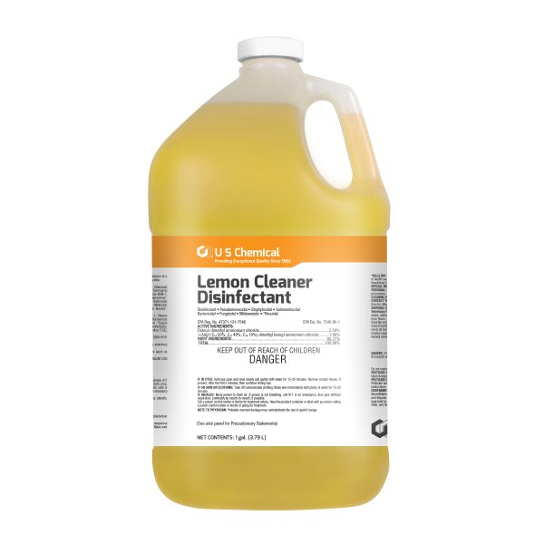Gallon jug of Brody Chemical's Lemon Cleaner Disinfectant