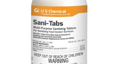 Bottle of Brody Chemical Sani Tabs product